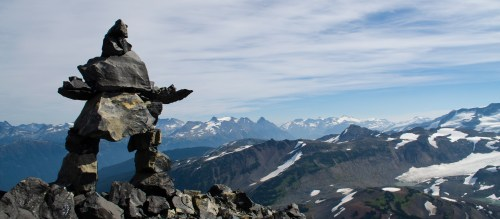 Inukshuk on the top of the Black Tusk