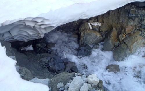 Melting Glacier. Flowing quickly underneath
