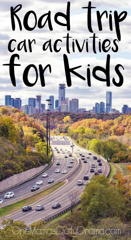 Road trip car activities for kids