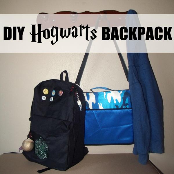 DIY Hogwarts backpack tutorial