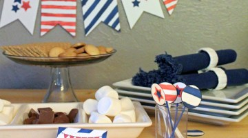 Red, white, & blue party printables
