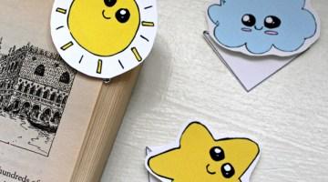 Kawaii corner bookmarks printable + tutorial