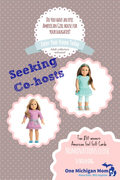 seeking cohosts for American Girl giveaway