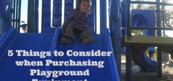 5 Things to look for when purchasing playground equipment