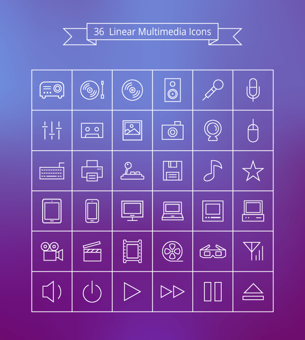 linear icons free download