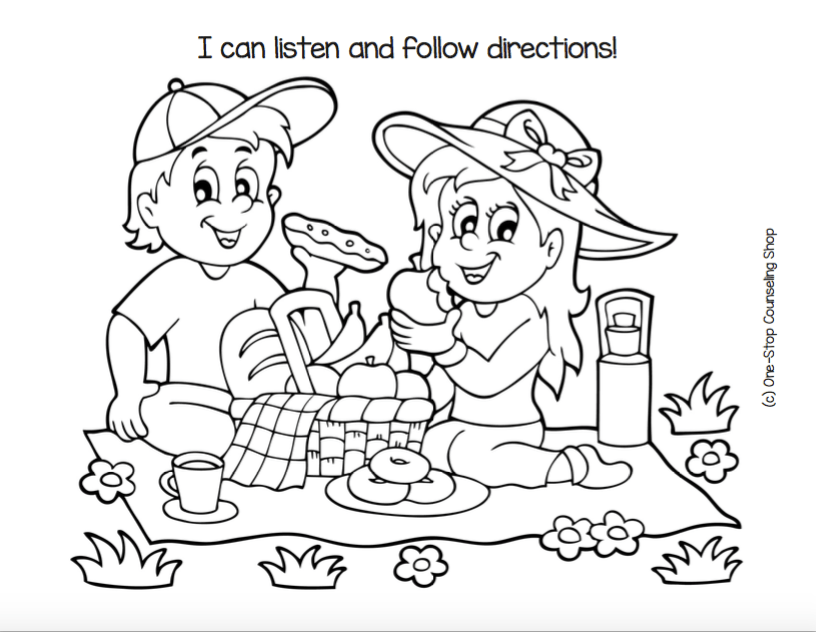 New Product :: Listening & Following Directions Coloring