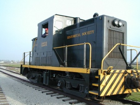 That's me driving this 44-ton locomotive
