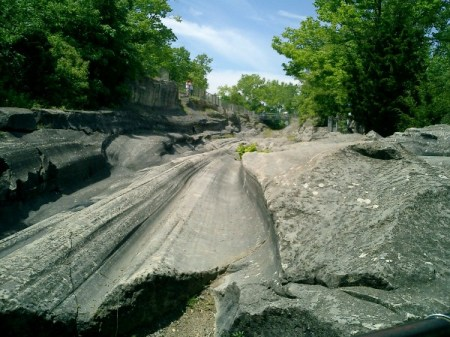 Glacial Grooves left on Kelleys Island by the Ice Age