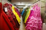 some of the approximately 5 thousand prom dresses in inventory at Unusual Junction