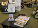 Signing table at Barnes and Noble set up for my arrival