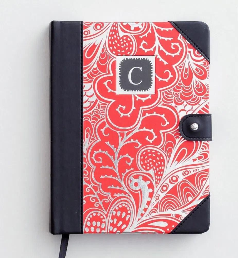 monogrammed journal
