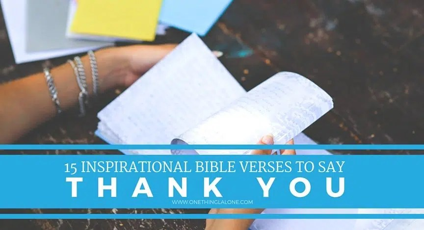15 verses to help you say thank you