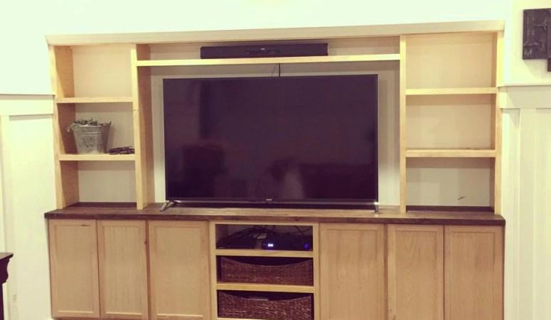 DIY Custom Media Built Ins