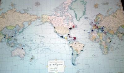 Nanny and Papa's world map pre-refurbish.