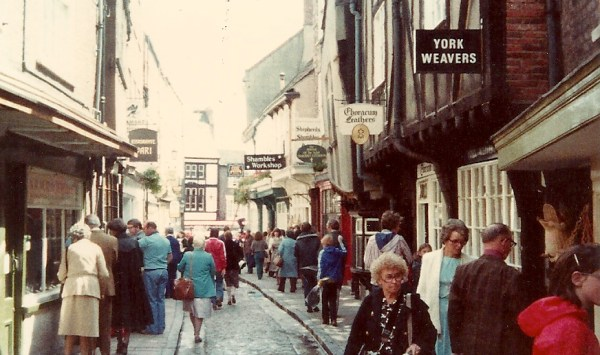 Nanny on The Shambles, York circa 1980