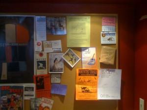 Cafe Ladro Bulletin Board