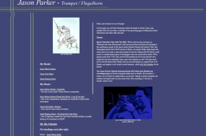 Jason Parker Music circa 2002 (Archive.org did go back to 1999)