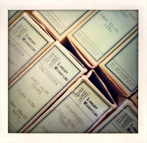 Dusty Boxes of Microfilm - Photo by Darrah Parker