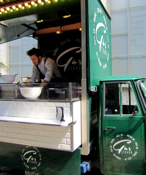 eating #Italian at Gio Strada #foodtruck in #Brussels - by @onfoodandwine