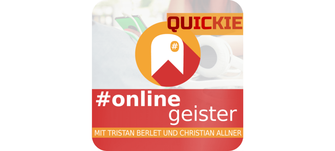 Quickie Week: Wie reagiere ich bei Shitstorms? — #Onlinegeister Quickie (Marketing-Podcast)