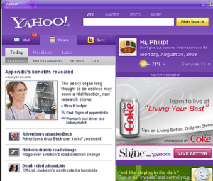 Home Page-Yahoo Home Page