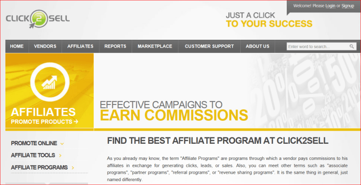 Affiliate Program-Click2Sell