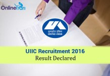 UIIC AO Result 2016