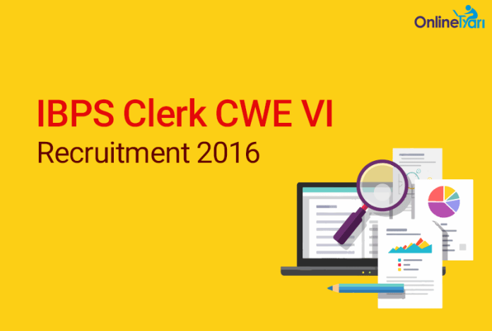 IBPS Clerk Recruitment 2016