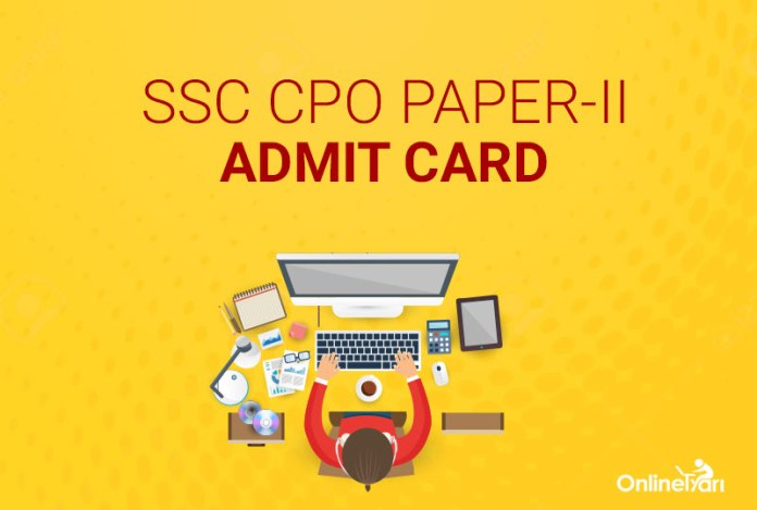 SSC CPO Paper 2 Admit Card 2016