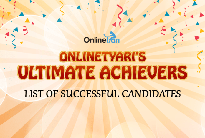 OnlineTyari's Ultimate Achievers: List of Successful Candidates