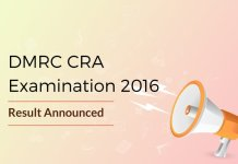 DMRC CRA Result 2016 Announced