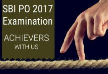 SBI PO Mains Examination 2017: Achievers with Us