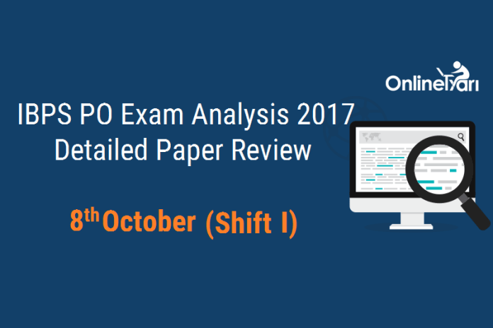 IBPS PO Prelims Exam Analysis 2017: 8 October (Shift 1)