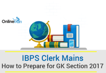 How to Prepare for IBPS Clerk Mains GK Section 2017