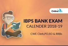 IBPS Bank Exam Calendar 2018-19: CWE Clerk, PO, SO & RRBs