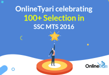 OnlineTyari celebrating 100+ Selection in SSC MTS Tier 1 2016