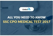 SSC CPO Medical Test 2017: All you Need to Know