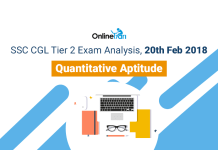 SSC CGL Tier 2 Exam Analysis, 20th Feb 2018: Quantitative Aptitude