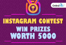 Instagram Contest: Win Prizes Worth 5000+