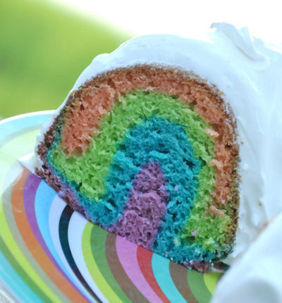 Gluten Free Rainbow Cake from gfJules