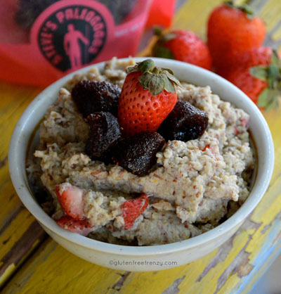 Strawberries & Cream Paleo Fauxtmeal (No-oats, gluten-free) from Gluten Free Frenzy