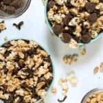 Super Duper Peanut Butter Cup Popcorn #SundaySupper
