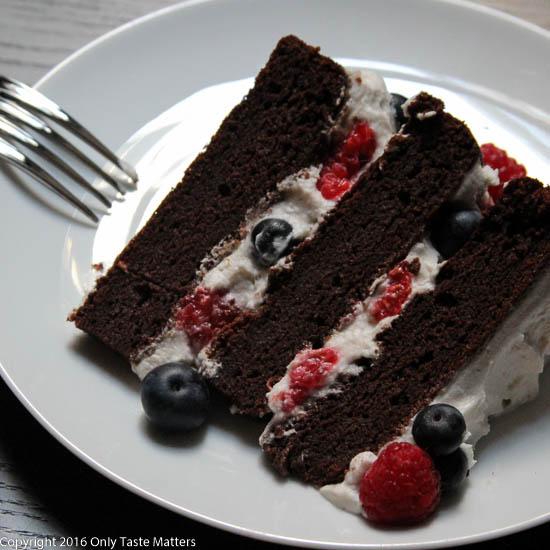 Patriotic Paleo Chocolate Cake   Only Taste Matters