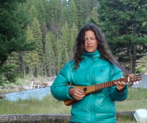 Margi on guitar - South Fork Flathead