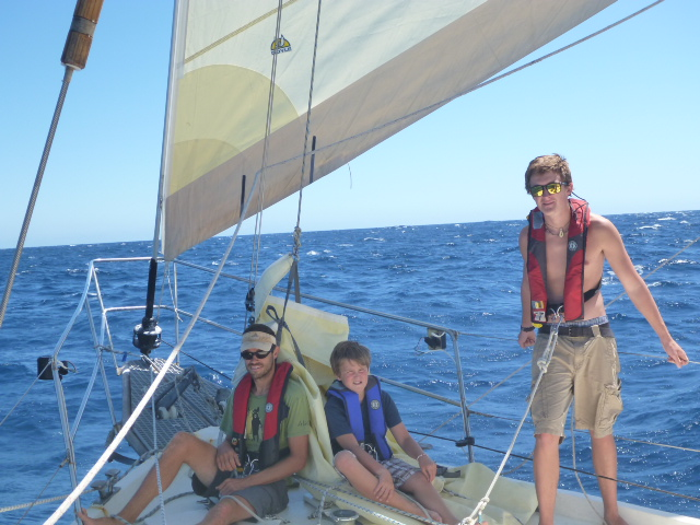 changing sails on the bow on hte horizon line blog brianna and rob pacific ocean