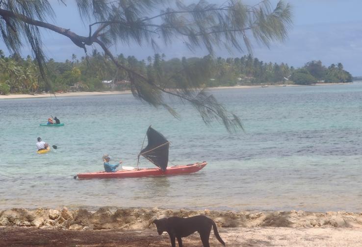 rob brianna sail travel voyage explore tonga grass skirt kayak