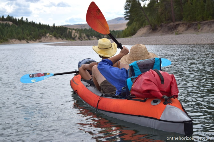 Kayaking and canoeing the lower Flathead River with friends.