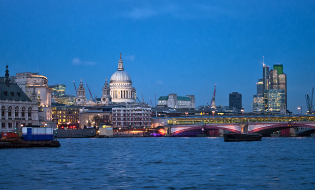 St Paul's, London's South Bank at dusk