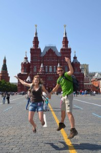 on the road to moscow - russia- red square - musée historique d'etat