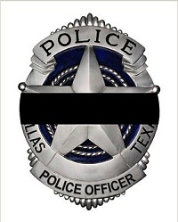 Dallas Police Badge/Wrapped in Black Band